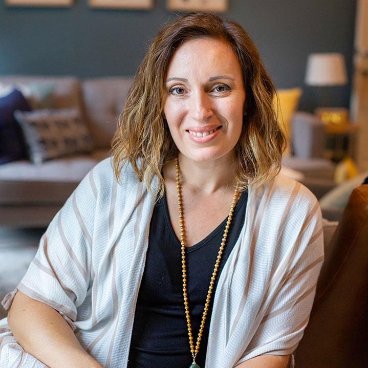 Liz Fava in her Atlanta therapy office